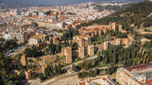Aerial View Of Malaga Fortress