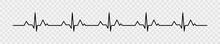 Heartbeat Pulse Vector Line Ic...