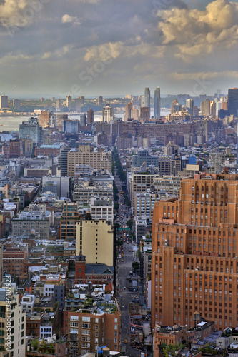 New York City. Wonderful panoramic aerial view of Manhattan Midtown Skyscrapers