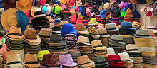Stacks Of Fashionable Hats In ...