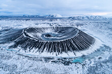 Aerial Wiew Of Hverfjall Crate...