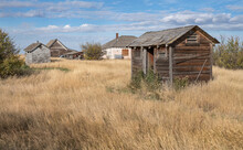 Old Outhouses In The Ghost Tow...