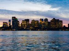 Boston Skyline In The Evening ...