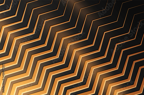 Canvas Print Black background with gold geometric pattern