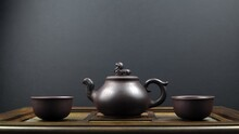 Ancient Teapot And Two Clay Bo...