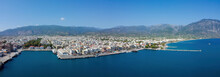 Aerial View Of Kalamata Port A...