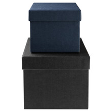 Two Gift Boxes, Black And Blue...