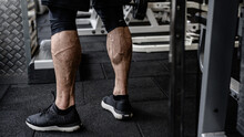 Strong Calves Of Young Active ...