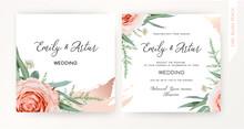 Wedding Square Invite, Save Th...
