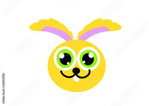 Fototapeta królik, natura, głowa, ikona, rysunek, Wielkanoc, zoo, las, przyroda, dzieci, naklejka, dom, baranek, kurczak, koszyczek, święta, rodzinne obraz