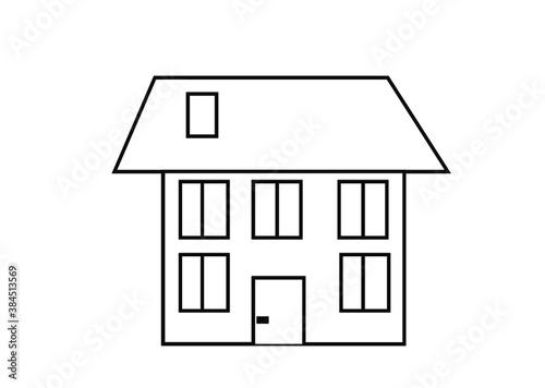 Fototapeta dom, budowa, kolorowanka, dzieci, rodzina, edukacja, rysunek, szkoła, pasja, kolorowanie, kredki, projekt domu obraz