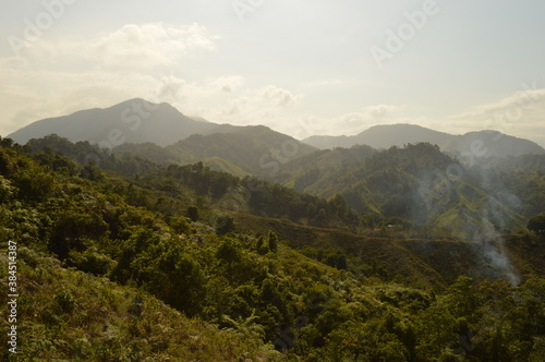 Fototapeta Hiking to Ciudad Perdida (The Lost City) in Colombias jungle and mountains of Si
