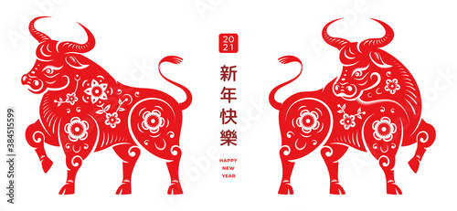 Cuadros en Lienzo Happy Chinese New Year text translation