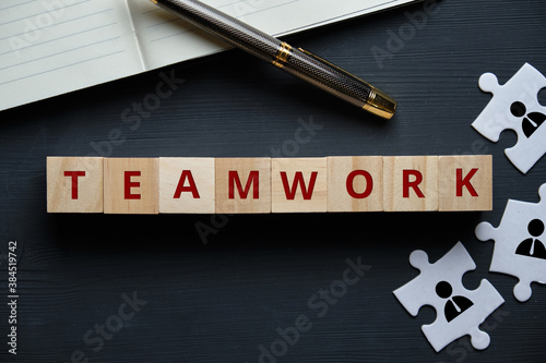 Photo The concept of teamwork as an essential tool for a successful business