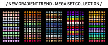 Vector Gradients Megaset Big Collection Of Metallic Gradient. Glossy Colors Backgrounds Gold, Bronze, Silver, Chrome, Metal, Blue, Purple, Pink, Yellow, White, Black, Red, Green, ,rose Gold Colors.