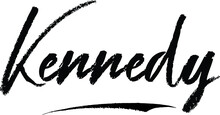 Kennedy-Female Name Brush Calligraphy On White Background