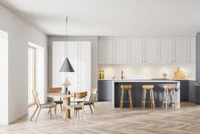 Modern White And Gray Kitchen ...