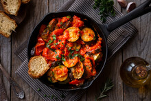 Cooked Vegetable Ratatouille, Traditional French Vegetable Dish