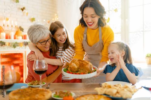 Obraz na plátne Happy Thanksgiving Day