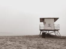 Lifeguard Shack, Foggy Morning