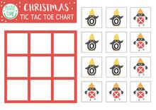 Vector Christmas Tic Tac Toe C...