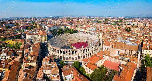 Verona Arena aerial panoramic view