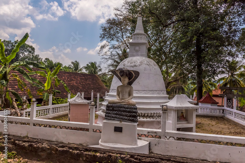 A view of a shrine close to  the station at Yatiwaldeniya on the Kandy to Columb Canvas Print