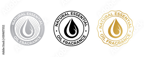 Fotografie, Obraz Oil drop icon for natural essential fragrance, vector cosmetic and beauty skincare quality sticker