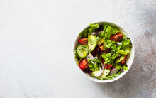 Fresh Mix Green Leaves, Tomato...