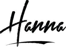 Hanna-Female Name Modern Brush...