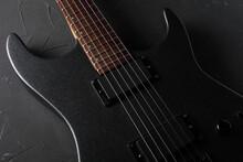 Gray Electric Guitar Close-up ...