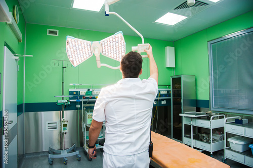 Photo Resuscitation chamber in municipal hospital