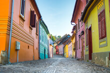 Colorful Houses On Street In S...