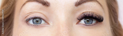 Fotografia, Obraz Eyelash extension procedure