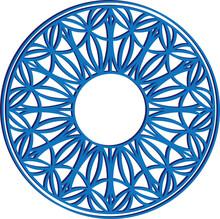 Blue Geometric Pattern In A Ci...