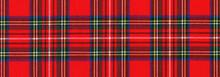 "National Scottish Woven Ornament - ""Scottish Cage"". Tartan ""Caledonia"", ""Scotch"", Long Format Banner."