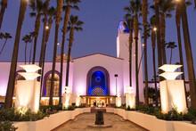 Los Angeles Union Station At Night
