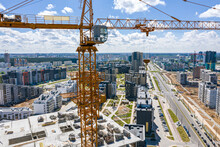 Yellow Tower Crane And Unfinis...