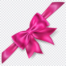 Beautiful Pink Bow With Diagon...