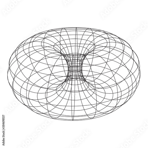 Torus Topology Circle Geometry Mathematics on white background.