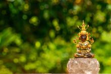 Brown Stone Buddha Statue Made...