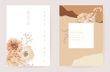 Floral Wedding Invitation Drie...