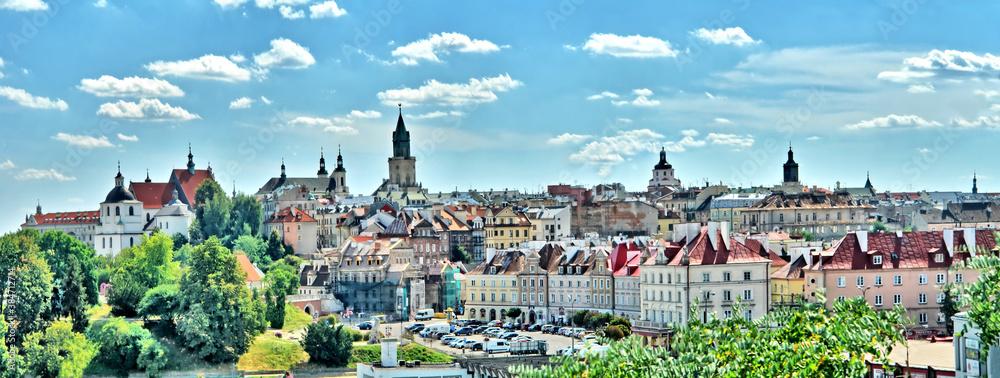 Fototapeta Panorama Starego Miasta w Lublinie