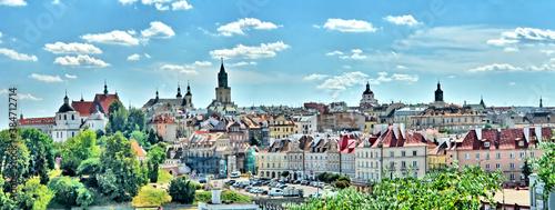 Obraz Panorama Starego Miasta w Lublinie - fototapety do salonu