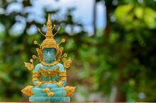 Green Jade Stone Buddha Statue...