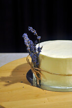 Lavender Soap And Flowers, Lavender Cake, Lavender, Cake, White, Black, Flower, Table, Cake On Table, Cook, Flowers,  Pastry