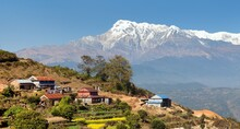 Mount Annapurna And Nepalese V...