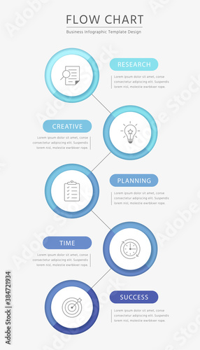 Photo Business flow chart infographics