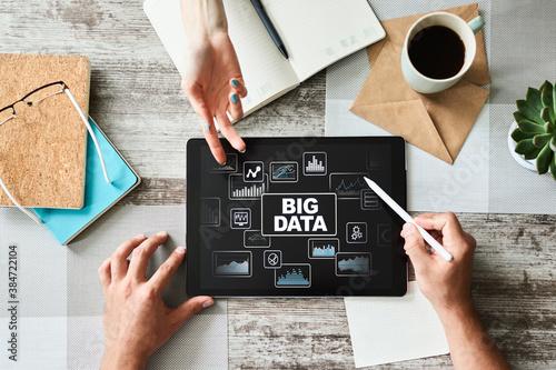 Fototapeta BIG DATA standard methods and tools complex to manipulate or interrogate