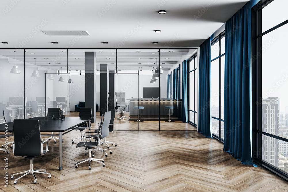 Fototapeta Contemporary coworking office room - obraz na płótnie